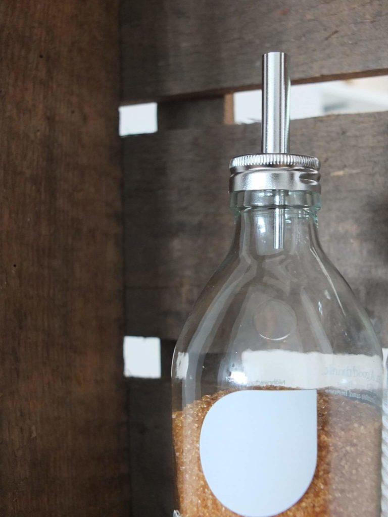 Wohngoldstück Upcycling Flaschen & Gläser Küche Zuckerstreuer