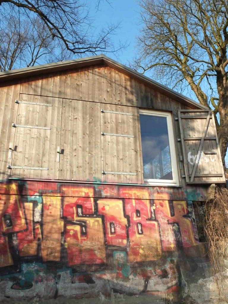 Elbstrand Hamburg Graffiti