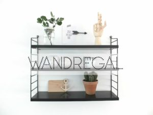 wohngoldst ck wandregal ein regal 3 styling ideen. Black Bedroom Furniture Sets. Home Design Ideas