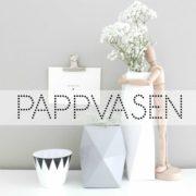 Wohngoldstück_Pappvasen aus Karton in Kupfer Weiß Grau zum Falten und Überstülpen für Flaschen und Gläser
