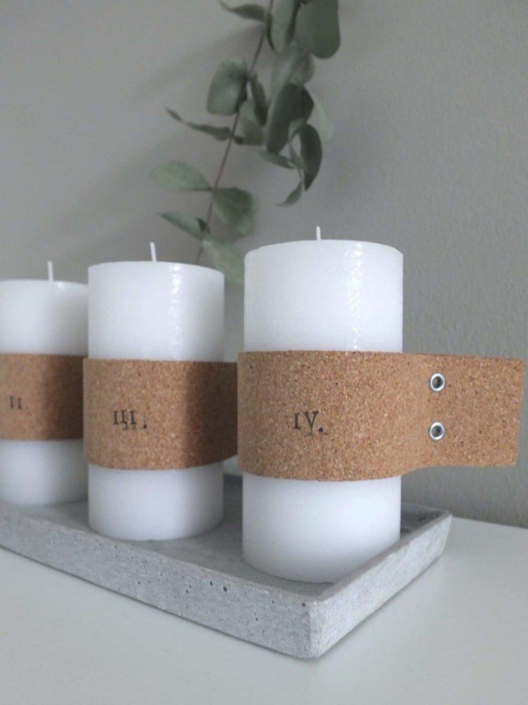 Wohngoldstück_DIY Adventskranz mit Kork