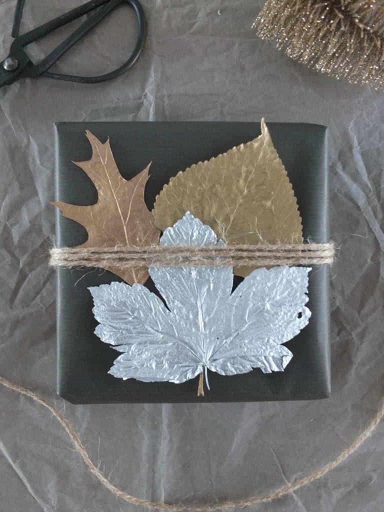Wohngoldstück_DIY Ideen Weihnachtsgeschenke verpacken metallic