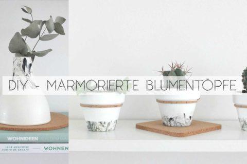 Wohngoldstück_DIY Marmor Effekt für eure Blumentöpfe