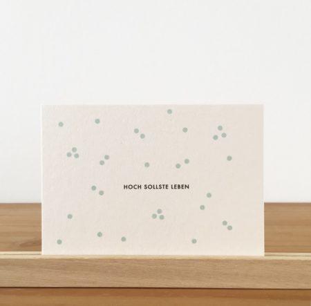 Wohngoldstück_Postkarte Papier Ahoi Hoch sollste leben