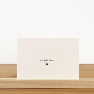 Wohngoldstück_Postkarte Papier Ahoi Du bist toll