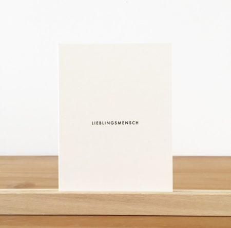 Wohngoldstück_Postkarte Papier Ahoi Lieblingsmensch