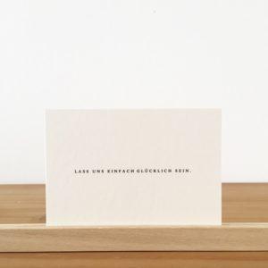Wohngoldstück_Postkarte Papier Ahoi Lass uns einfach glücklich sein