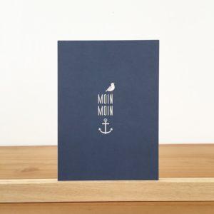 Wohngoldstück_Postkarte Ahoi Papier Moin Moin