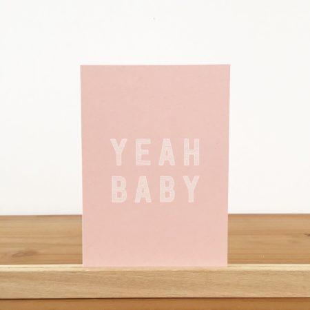 Wohngoldstück_Postkarte Papier Ahoi Yeah Baby Mädchen