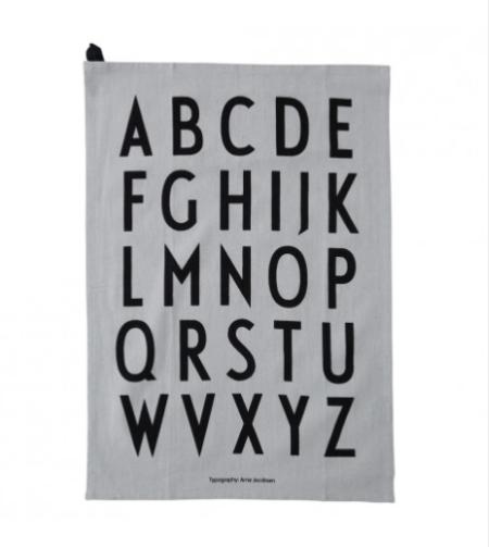 Wohngoldstueck_Geschirrtuch Design Letters Grau Set