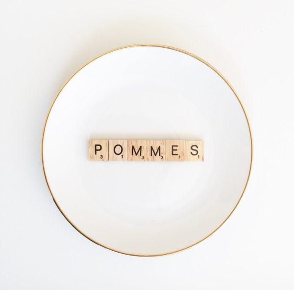 Wohngoldstück_Wandteller Herr Fuchs Pommes
