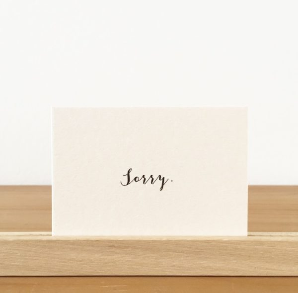 wohngoldstück_ Mini-Postkarte Papier Ahoi Sorry