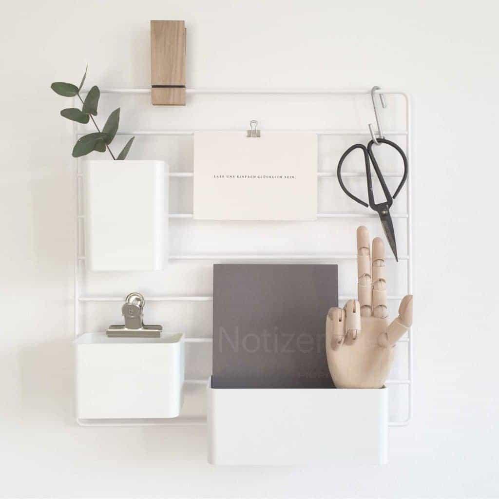 Wohngoldstück_Home Office Scandi String Organizer
