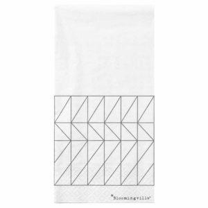 Wohngoldstück_Bloomingville Servietten Weiß mit geometrischen Formen