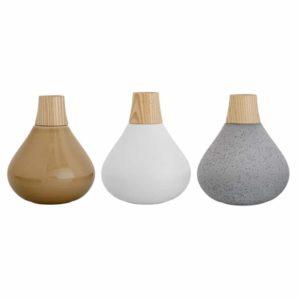 Wohngoldstück_Bloomingville Vasen Grau Weiß Beige Holz