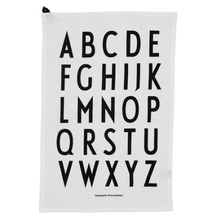 Wohngoldstueck_Geschirrtuch Design Letters Weiß