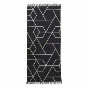 Wohngoldstück_Teppich House Doctor Phantom schwarz weiß 90x200