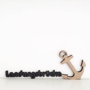 Wohngoldstück_Schriftzug No Gallery Landungsbrücke