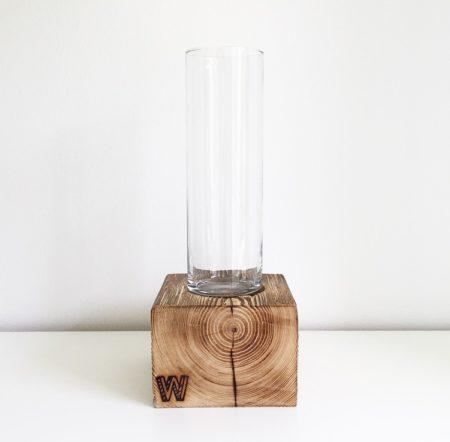 Wohngoldstück_Woodenchock Holzblock Classic Vase