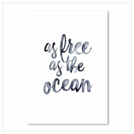 Wohngoldstück_Kunstdruck Leo la Douce As free as the ocean