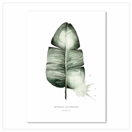 Wohngoldstück_Kunstdruck Leo la Douce Banana Leaf