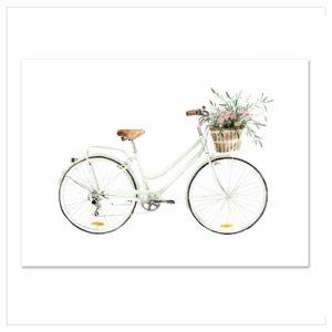 Wohngoldstück_Kunstdruck Leo la Douce Bicycle Love