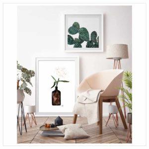 Wohngoldstück_Kunstdruck Leo la Douce Cactus Family