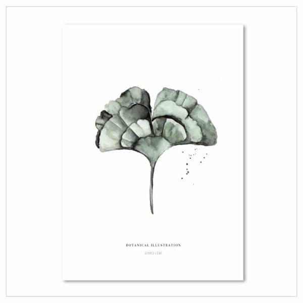 Wohngoldstück_Kunstdruck Leo la Douce Ginko Leaf