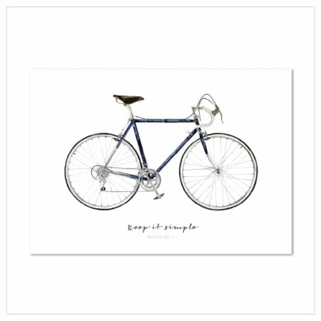 Wohngoldstück_Kunstdruck Leo la Douce Keep it simple Kunstdruck Leo la Douce Keep it simple - Bicycle No.1