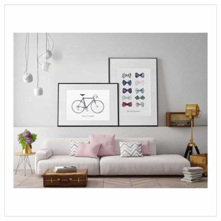 Wohngoldstück_Kunstdruck Leo la Douce Keep it simple Kunstdruck Leo la Douce Keep it simple - Bicycle No.1