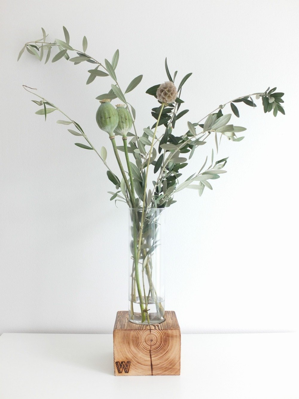 Wohngoldstück_Woodenchock Holzblock Classic Vase