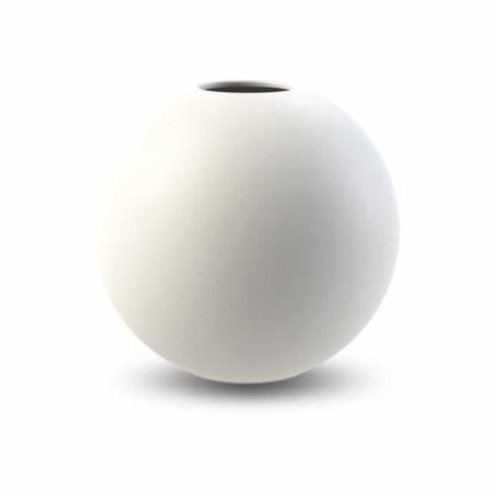 Wohngoldstück_Vase 20cm Weiß Cooee Design