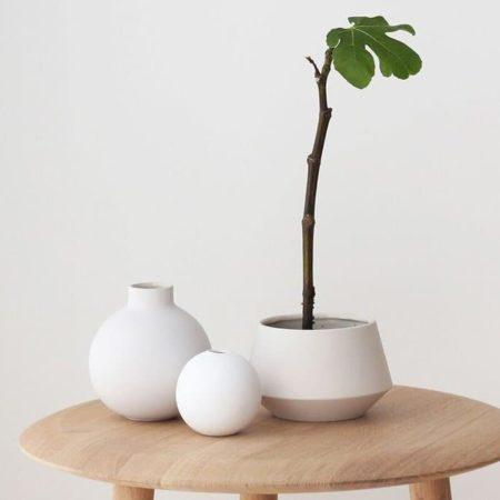 Wohngoldstück_Vase 8cm Weiß Cooee Design