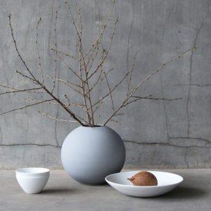 Wohngoldstück_Vase 20cm Grau Cooee Design