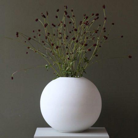 Wohngoldstück_Vase 30cm Weiß Cooee Design