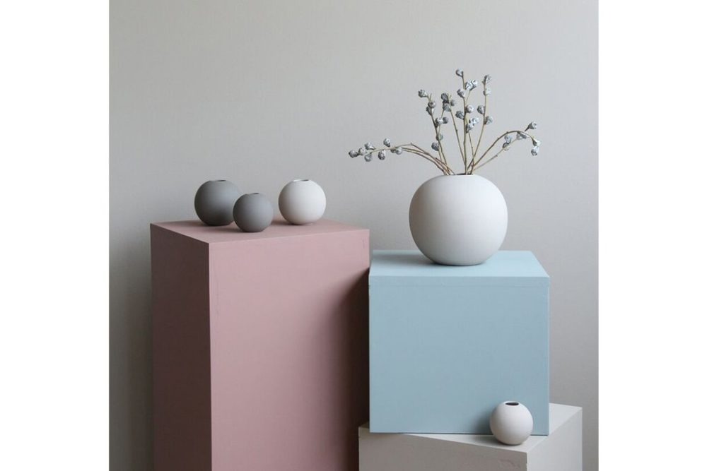 vase 20cm grau von cooee design wohngoldst ck. Black Bedroom Furniture Sets. Home Design Ideas