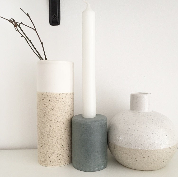 kerzenhalter speckstein grau von bloomingville wohngoldst ck. Black Bedroom Furniture Sets. Home Design Ideas