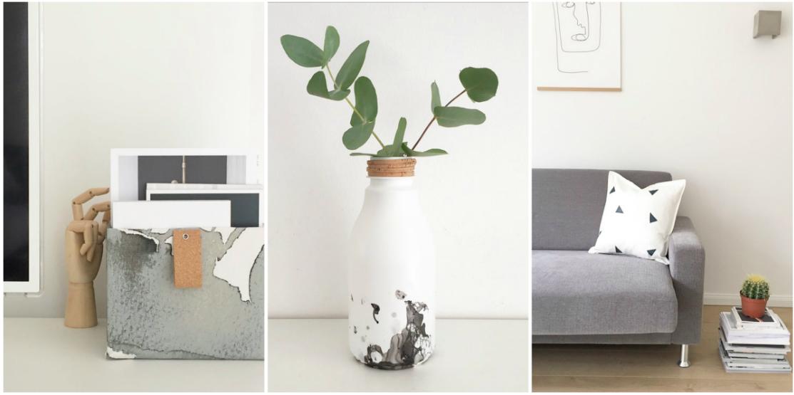 Wohngoldstück_DIY Upcycling Vase Kissen Karton