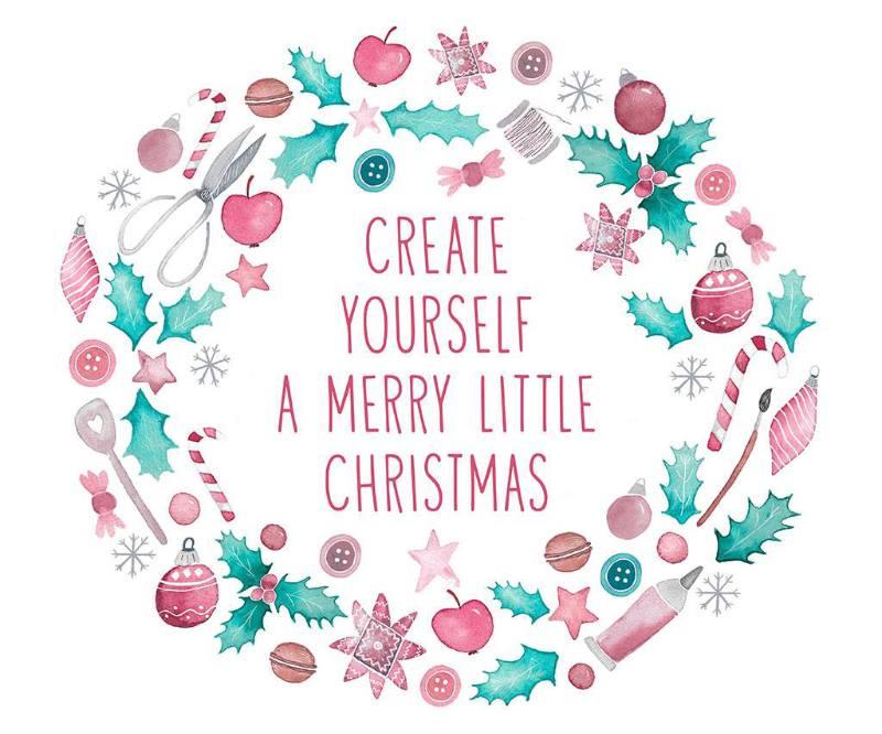 Wohngoldstück_create yourself a merry little christmas 2017 wanddeko mit stickrahmen
