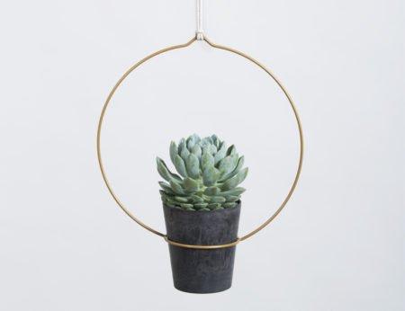 Wohngoldstück_Plant Hanger Circula Gold Draad Zaken