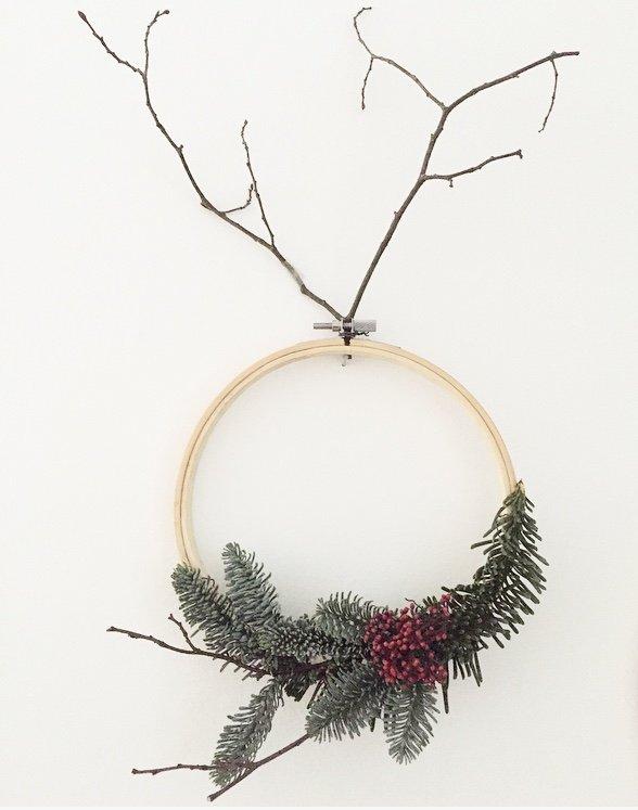 Wohngoldstück_Create yourself a merry little christmas 2017 wanddeko stickrahmen