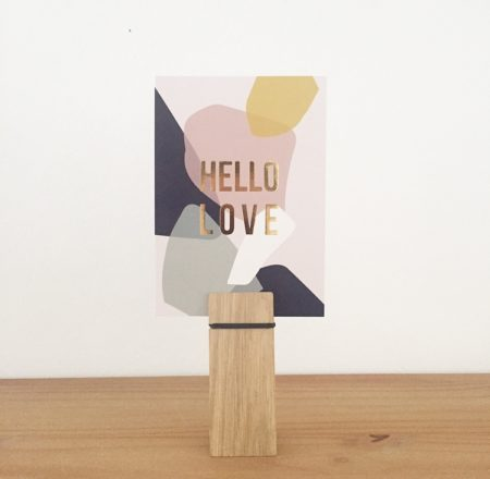 Wohngoldstück_Postkarte Kreativkollaps Terrazzo Hello Love