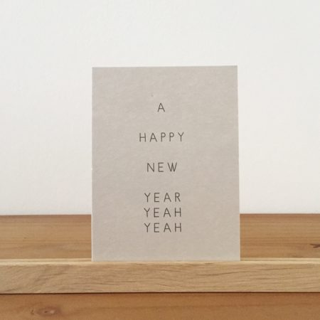Wohngoldstück_Postkarte Papier Ahoi A happy new year yeah yeah