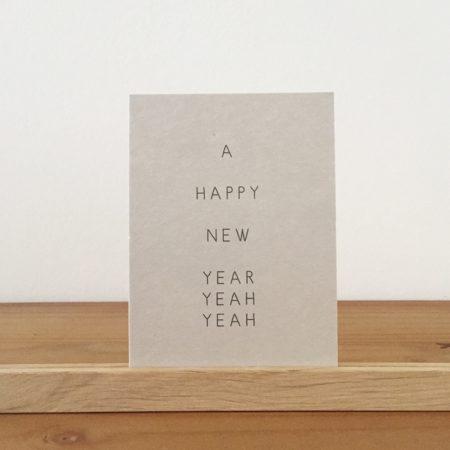 Wohngoldstück_Postkarte Papier Ahoi A happy new year yeah yeah
