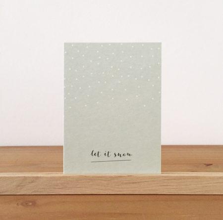 Wohngoldstück_Postkarte Papier Ahoi Let it snow