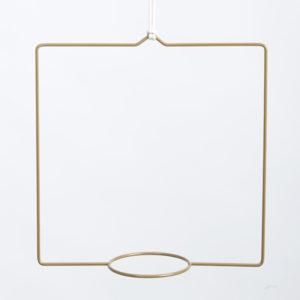 Wohngoldstück_Plant Hanger Quadra Gold Draad Zaken