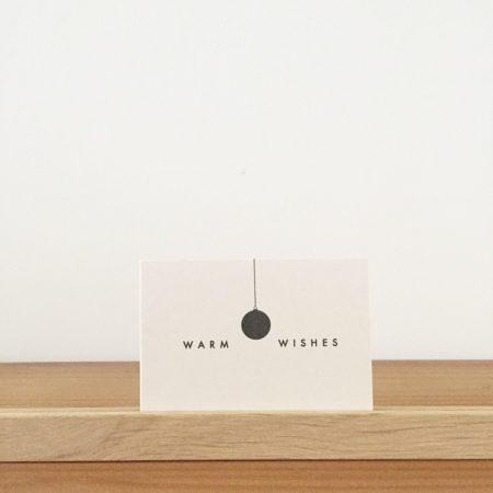 Wohngoldstück_Mini-Postkarte Papier Ahoi warm wishes