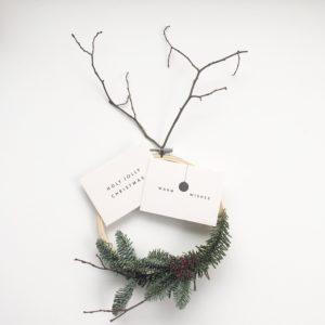 Wohngoldstück_Mini-Postkarte Papier Ahoi warm Wises holy jolleychristmas