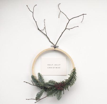 Wohngoldstück_Mini-Postkarte Papier Ahoi Holy jolly christmas