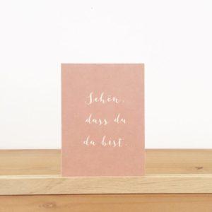 Wohngoldstück_Postkarte Papier Ahoi Schön dass du das bist